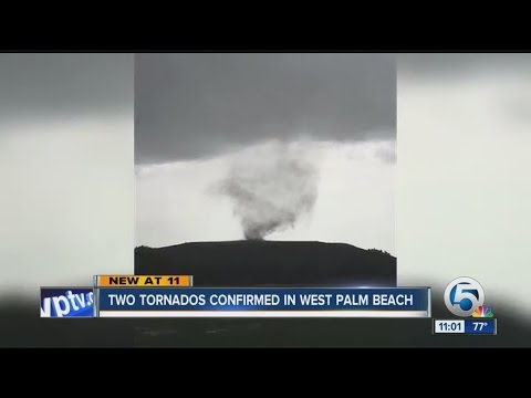 Two tornados confirmed in West Palm Beach