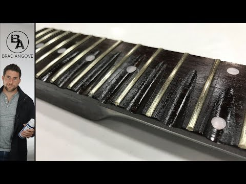 How to do a partially scalloped fretboard | The guitar kit from solo music gear (Part 13)