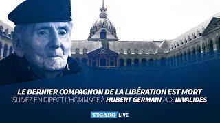 🔴Hommage national aux Invalides à Hubert Germain, dernier compagnon de la Libération
