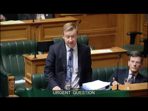 Urgent Question- Dr David Clark to the Minister of Health