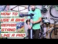 How to use a bicycle repair stand and what features to look for