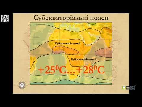 3 Субекваторіальний Кліматичні пояси і типи клімату   Нова Школа   Географія 7 к