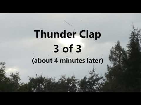 Loud Thunder in Redwood City CA 9 11 17