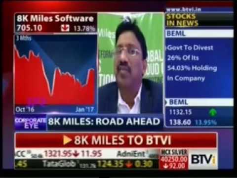 8K Miles Q3 Results 2017 - Mr. Suresh V - Bloomberg TVI Corporate Eye with