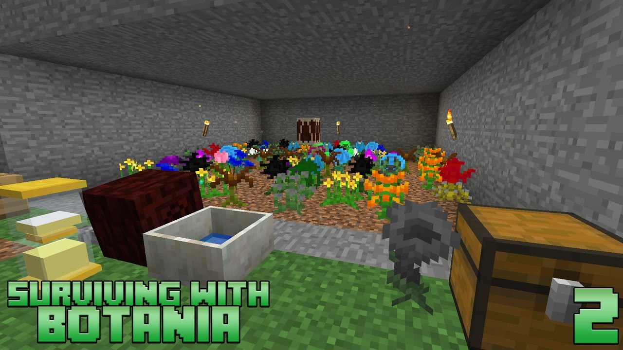 Surviving With Botania :: E02   Automated Flower Farm   YouTube