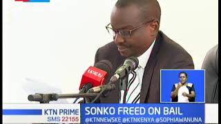 Relief for Sonko as labour court release him on sh. 15 million cash bail