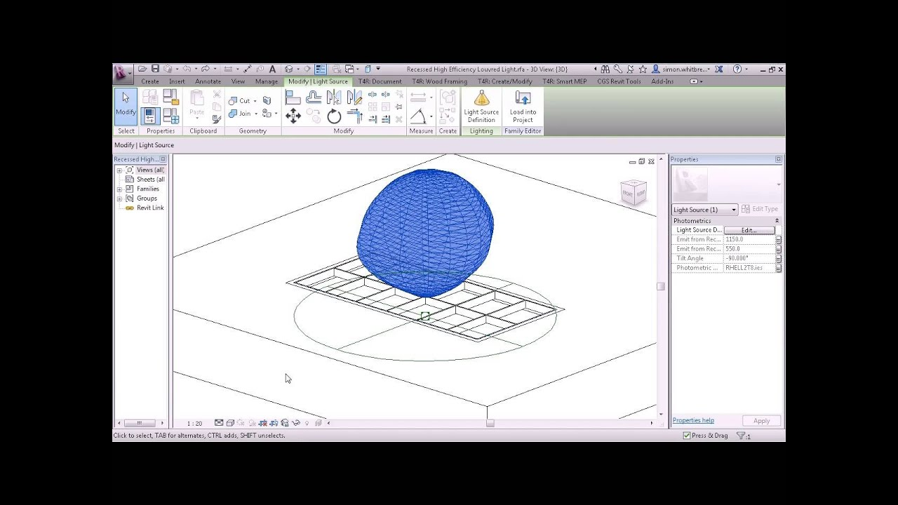 Revit Families Tutorial Lighting