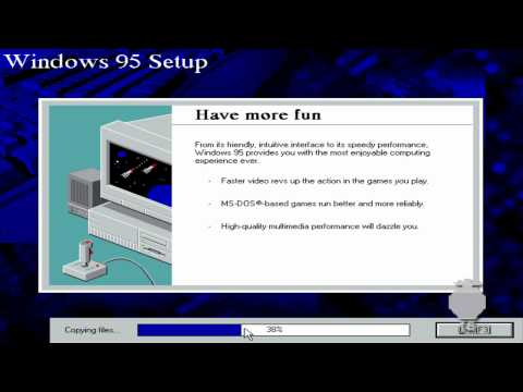 Windows 95 Installation - VirtualBox