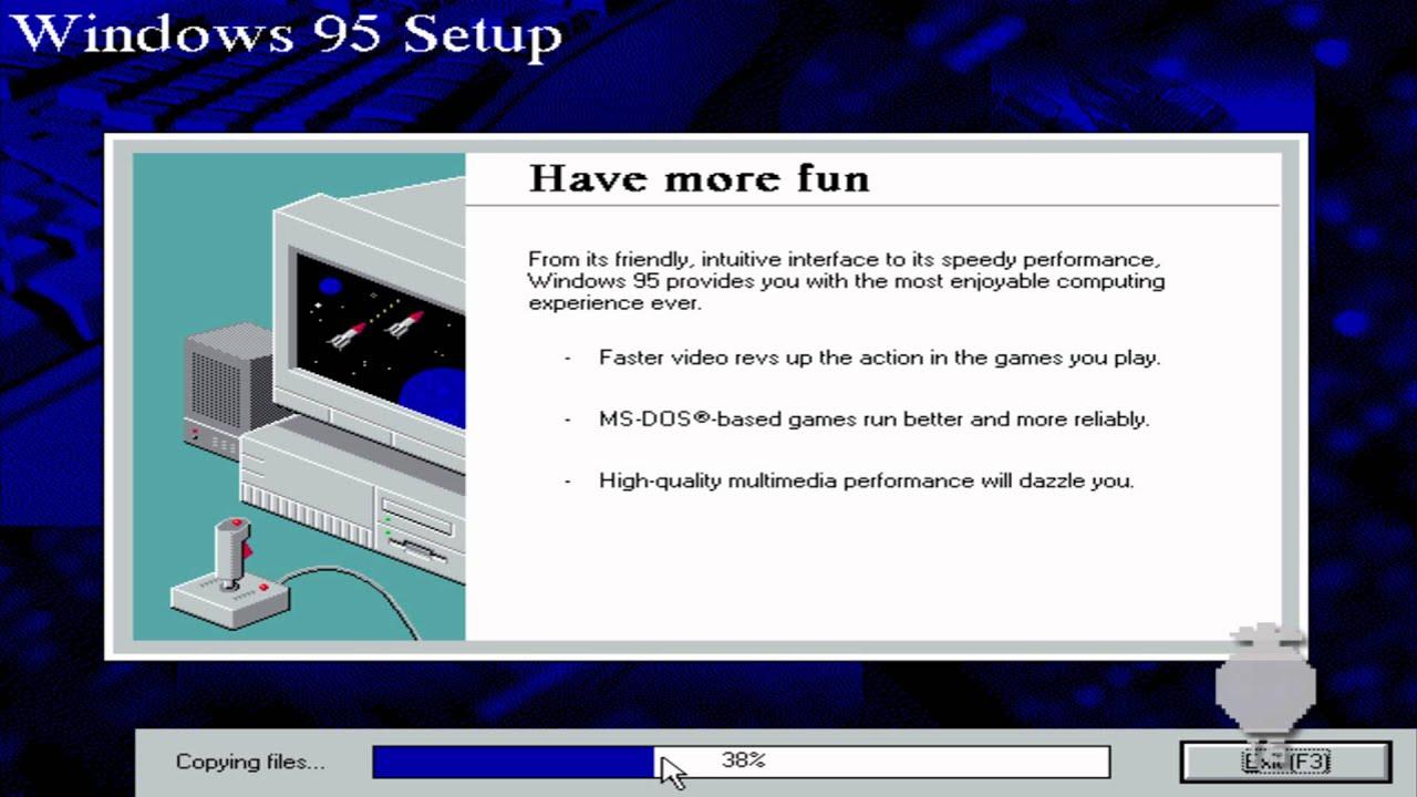 Windows 95 installation virtualbox youtube for Windows 95 iso