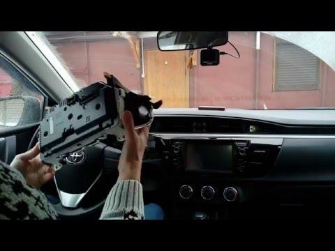 Снятие приборной панели Toyota Corolla 2013