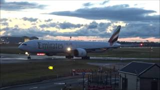 Emirates 777 at Birmingham Airport with ATC - 20th July 2015