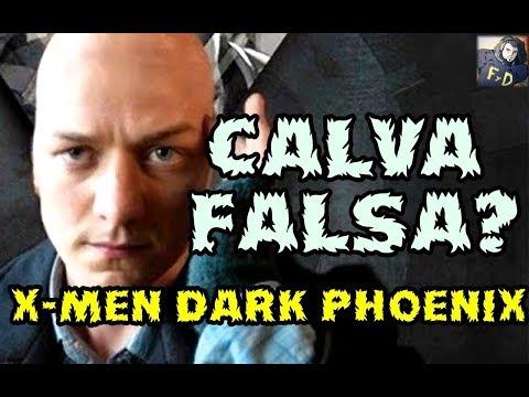 HORROR! EN X-MEN DARK PHOENIX EL PROFESOR XAVIER LLEVARA UNA CALVA FALSA COMO BIGOTE DE SUPERMAN!