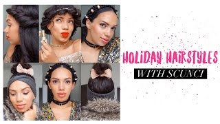 scunci holiday hairstyles
