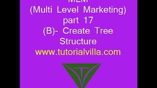 MLM(Multi Level Marketing) website mit php-Teil 17(B) - Baumstruktur Erstellen