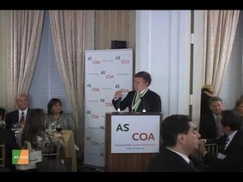 Americas Society Recognizes President Juan Manuel Santos with Gold Insigne