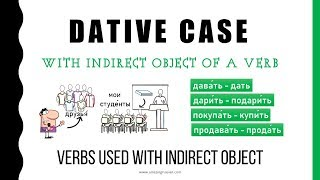 Beginning Russian: Dative Case. Indirect Object. Common Verbs -1