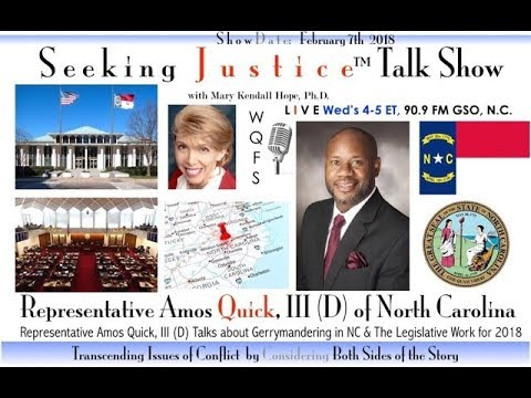 Radio Interview with Representative Amos Quick, III (D) of North Carolina