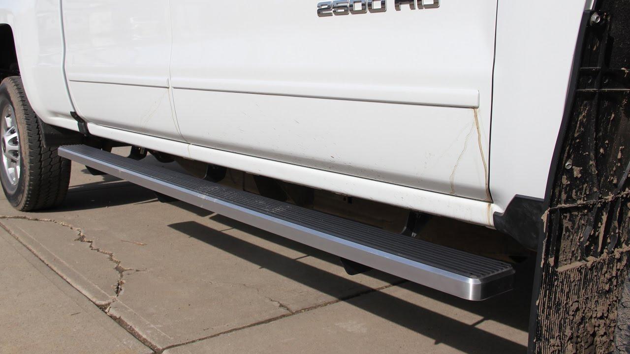2016 Chevrolet 2500 Hd Iboard Running Board Installation