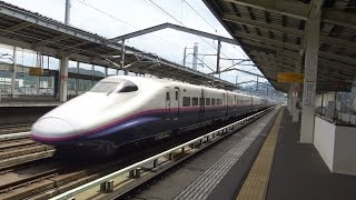 最高速度320㌔ 東北新幹線 白石蔵王駅 高速通過集