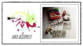 HAUL ALIEXPRESS 11/11 || MATERIAL MANUALIDADES Y SCRAPBOOKING