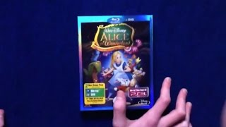Unboxing Alice in Wonderland Blu-Ray/DVD