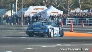 EVO X & Nissan GT-R Drift @ Autosalon Tokyo  Yokohama Plant