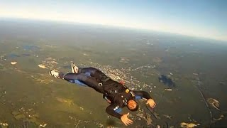 Repeat youtube video Skydiving Accident: Backflying Turns To Terrifying, Uncontrollable Spin