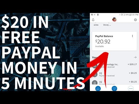 Make $20 Dollars In Free PayPal Money In 5 Minutes! (Live Income Proof Shown)