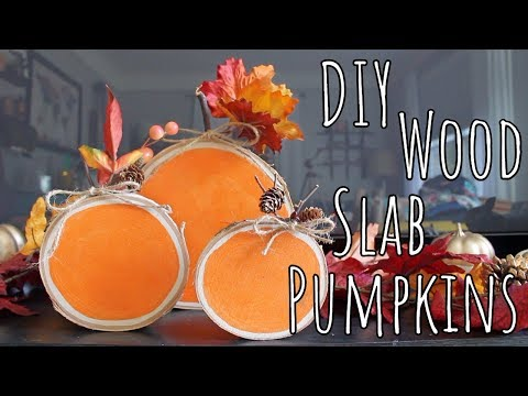 DIY | Wood Slab Pumpkins