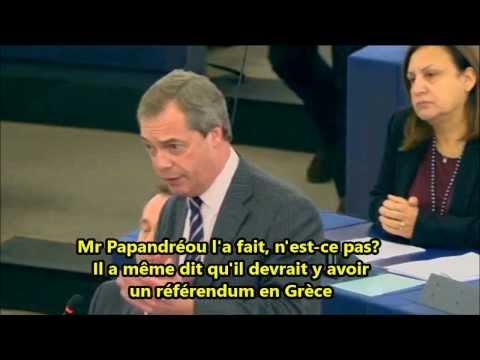 """Nigel Farage/Antonis Samaras : """"Vous êtes une marionnette de Goldman Sachs"""" 15/01/14"""
