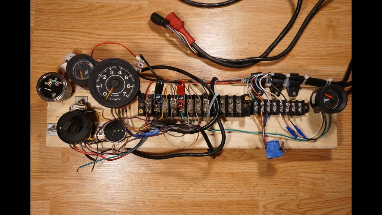 Outboard Motor Control Wiring Part 1 Diy Outboard Test Control Box