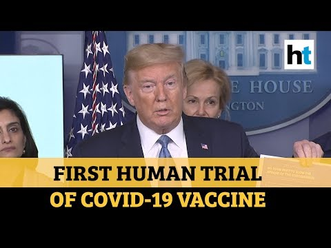 US President Donald Trump Announces First Human Trial Of Coronavirus Vaccine