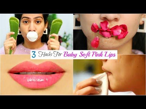 3 DIY HACKS For Soft PINK LIPS in Winters - फटे होठों से छुटकारा पाएं | #Beauty #Fun #Anaysa