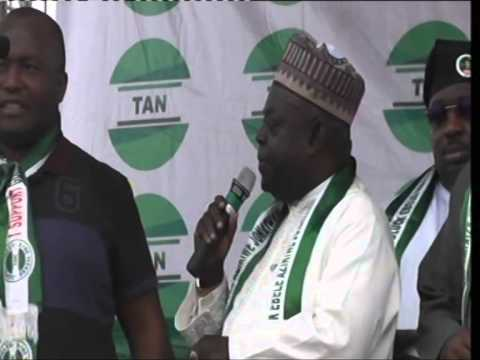 NORTH CENTRAL ZONAL RALLY OF TRANSFORMATION AMBASSADORS OF NIGERIA TAN IN MINNA, NIGER STATE