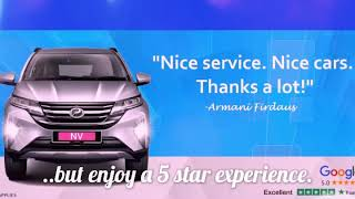 Enjoy 5 star service at the lowest prices. Rent an NV car today!