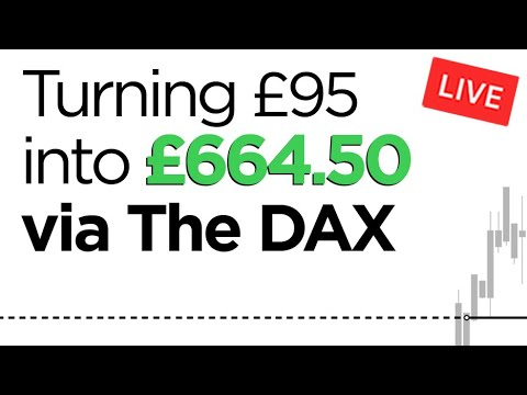 Turning £95 into £664.50 via The DAX Strategy