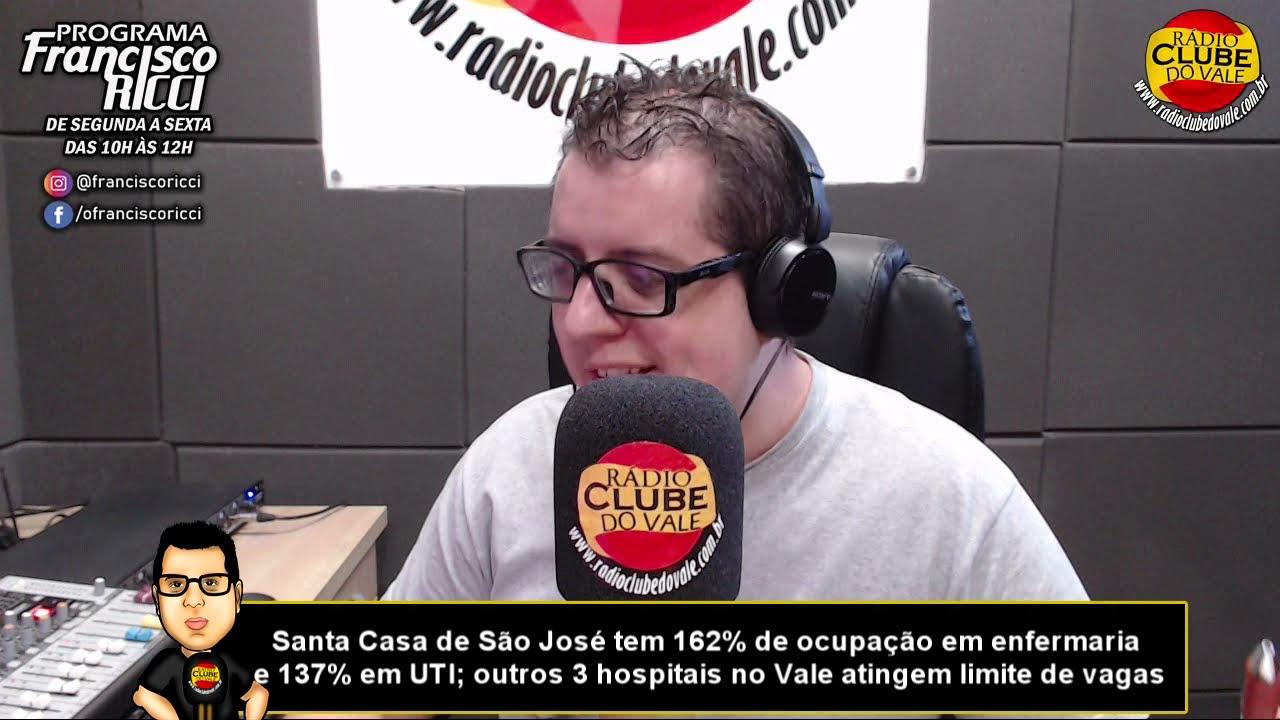 Santa Casa de São José tem 162% de ocupação em enfermaria e 137% em UTI; outros 3 hospitais no Vale