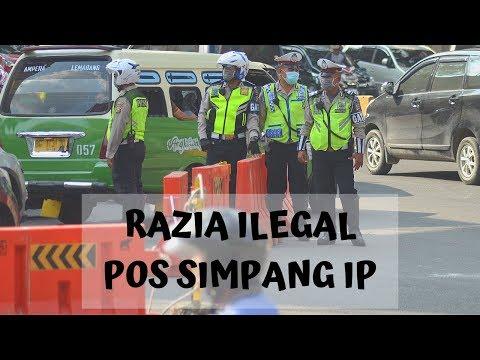 Sidak Razia Ilegal Pos Simpang IP Palembang