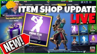 🆕MenamesCho's LIVE 🎷 ITEM SHOP UPDATE 🎷 PHONE IT IN EMOTE - FORTNITE BATTLE ROYALE - 2nd December