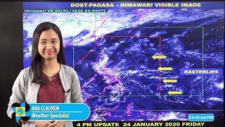 Public Weather Forecast Issued at 4:00 AM January 24, 2020