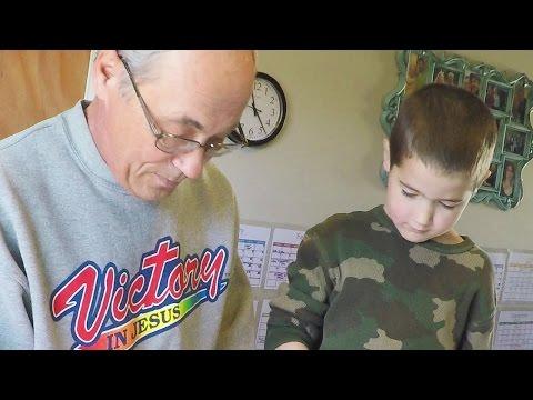 Grandpa gets some Homeschooling Practice!