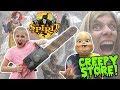 WORLD'S CREEPIEST STORE!!! Scary Animatronics at SPIRIT HALLOWEEN STORE - 2017!