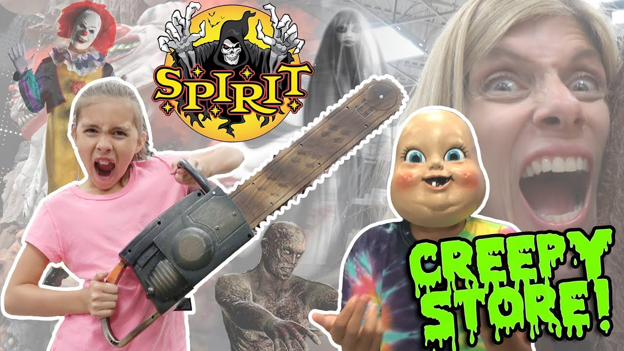world's creepiest store!!! scary animatronics at spirit halloween