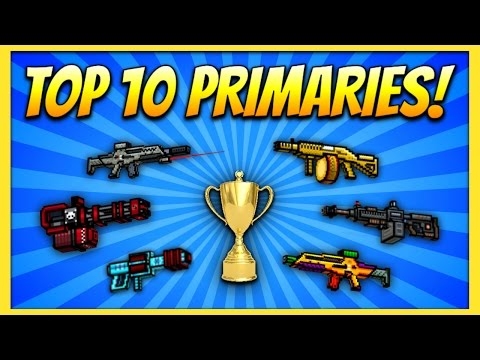 TOP 10 PRIMARY GUNS! | Pixel Gun 3D (Special)