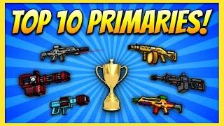 TOP 10 PRIMARY GUNS! | Pixel Gun 3D (Special)