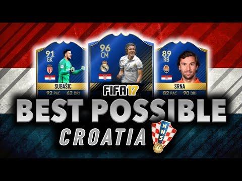 BEST POSSIBLE CROATIA SQUAD BUILDER | FIFA 17 | w/ MODRIC, SUBASIC, & SRNA