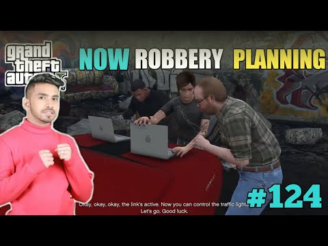 LEISTER PLAN NEW BANK ROBBERY IN LOS SANTOS WITH HACKER GIRL I #ujjwal #gta #124
