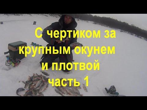 Зимняя рыбалка.Ловля на безмотылки.Ловля крупной рыбы на чертик.Часть 1-я