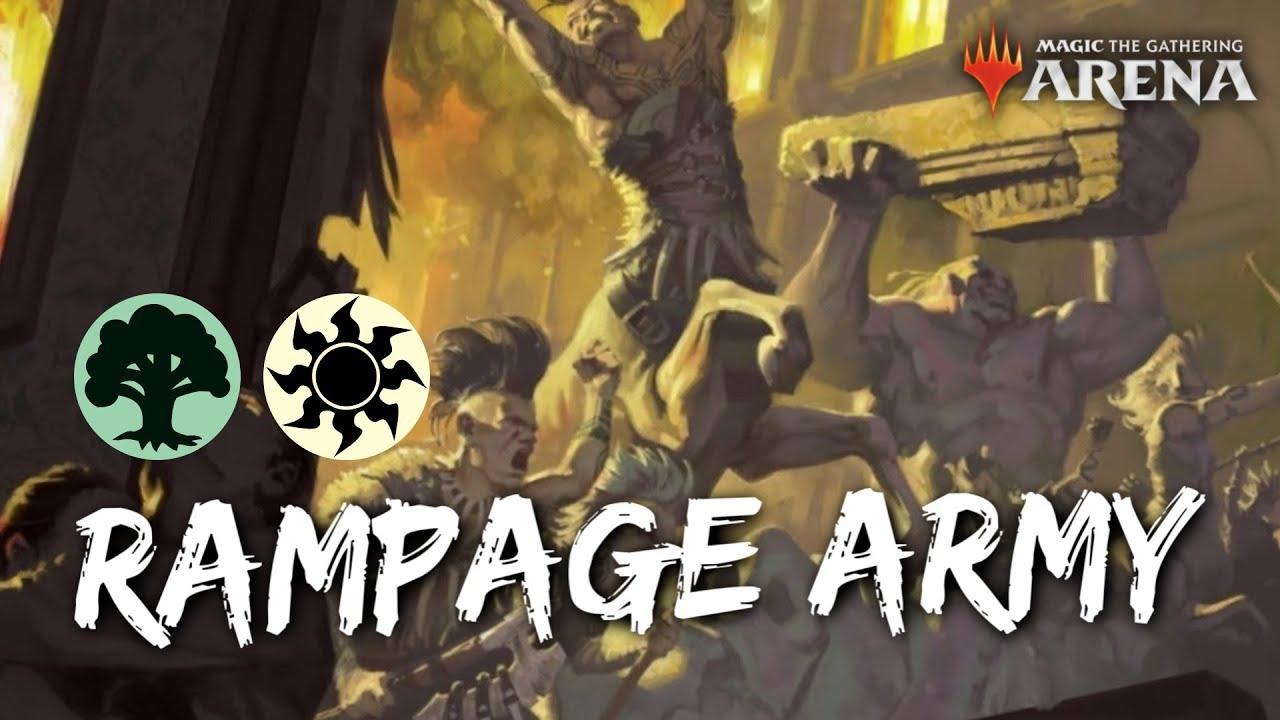 64 95 MB] Rampage Army [MTG Arena] | Selesnya Rampage Dawn of Hope