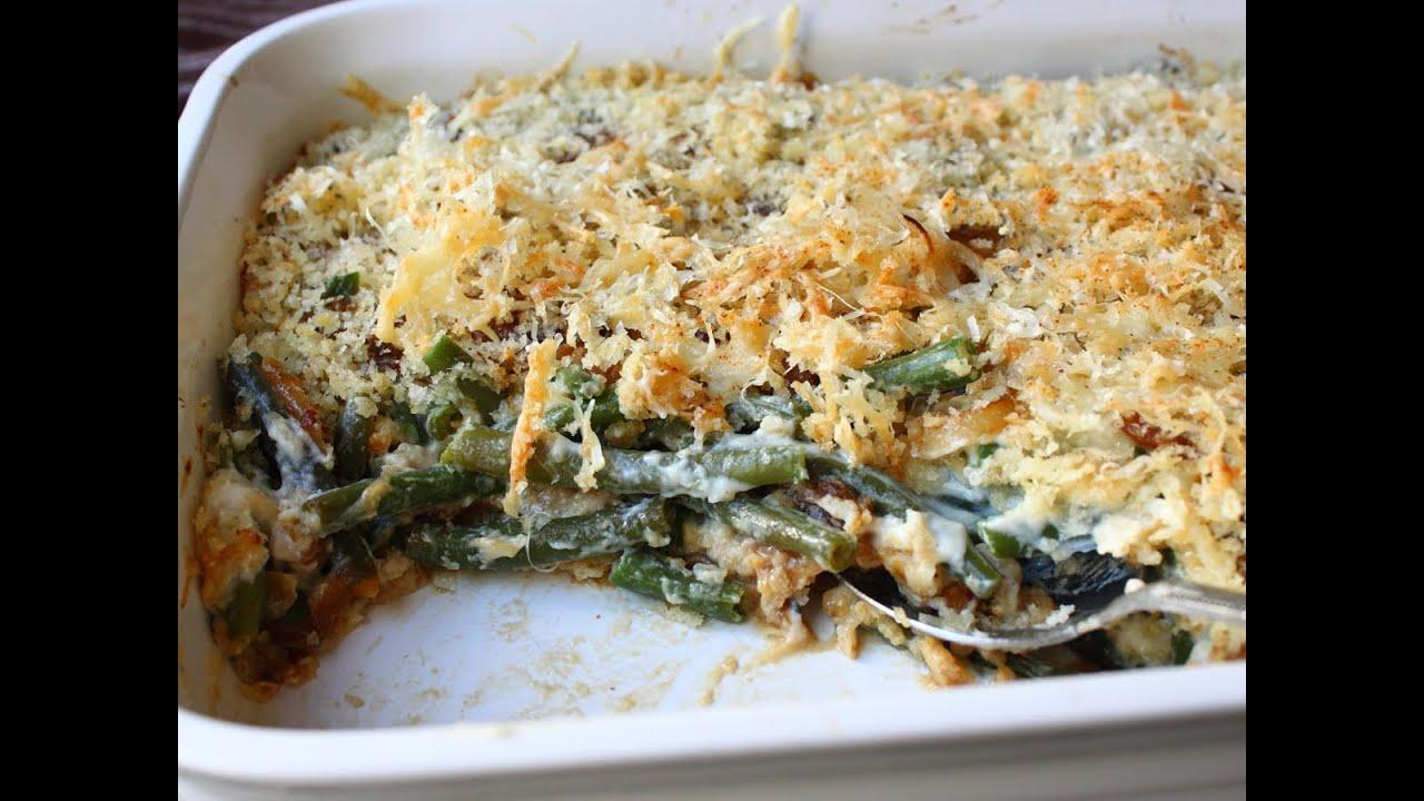 French Onion Green Bean Casserole Recipe Thanksgiving Green Bean Side Dish